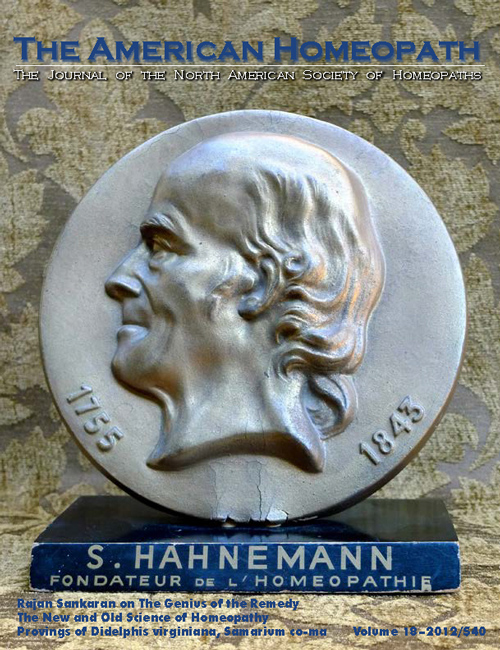 Volume 18 | 2012 - Samuel Hahnemann Issue