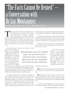 Link to PDF of journal article AH18-The Facts Cannot Be Denied - interview with Luc Montagnier