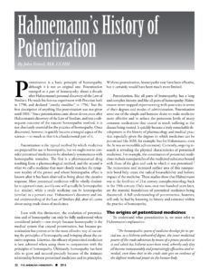Link to PDF of journal article AH22 - Hahnemann's History of Potentization
