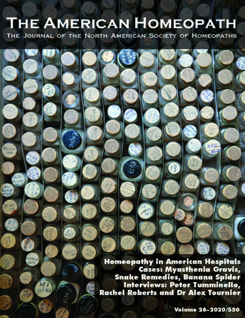 AH26 Cover The American Homeopath Journal